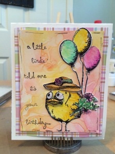 handmade mixed media card