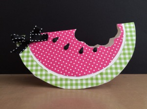 handmade watermelon shaped card