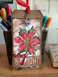 handmade mixed media tag
